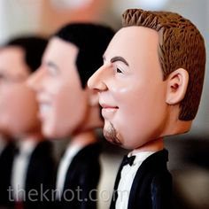 Groomsmen gift! Bobble head awesomeness! Lol.