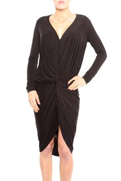 Plunging neckline and beautiful draping the Adele dress is one of the brands staple shapes.  Adele Dress by Young Fabulous & Broke. Clothing - Dresses - Night Out California