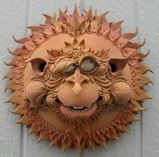 """This is called a """"Sun Goon"""" - hahaha, so whimsical - from Douglas Fey Pottery."""