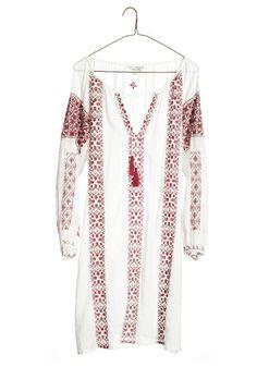 Nili Lotan | BOHEMIAN DRESS-RED/WHITE - Dresses + Skirts