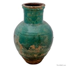 "Turquoise glazed pottery storage jar, Iran, 12th-13th century. Height: 25""  http://www.the-maac.com/anavian-gallery?id=67=1651&?_vsrefdom=pinterest"