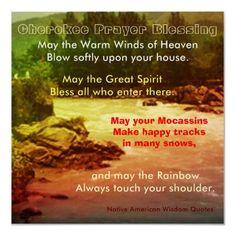 Cherokee prayer blessing