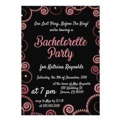 Neon Swirls Bachelorette Party Invitation - wedding invitations cards custom invitation card design marriage party