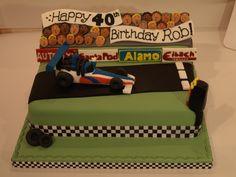 Drag racing theme birthday cake - I love that cake Co. Bedford