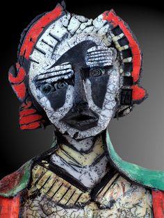 Dominique Allain - Raku Sculpture  K070315modene