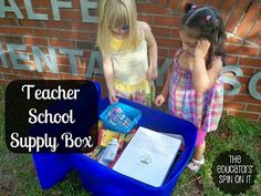 Simple Ways Create a Teacher School Supply Box to Donate to a New Teacher or school in need with Friends, Coworkers or Mom's Group.