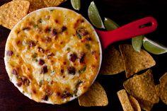 Queso fundido with chorizo, jalapeño and cilantro recipe (Photo: Andrew Scrivani for The New York Times)