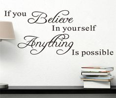 Wall Stickers believe in yourself home decor creative quote wall decal decorative adesivo de parede removable vinyl wall sticker *** AliExpress Affiliate's Pin. Offer can be found by clicking the image Wall Stickers Uk, Personalised Wall Stickers, Large Wall Decals, Custom Wall Decals, Removable Wall Stickers, Decorative Stickers, Stickers Online, Believe, Wall Art Quotes