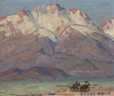 Owens Valley At Big Pine By Edgar Payne . Truly Art Offers Giclee Unframed Prints on Paper, Canvas Art, and Framed Art in all our Collections. Edgar Payne, Landscape Artwork, Paintings I Love, Western Art, Artist Painting, Sd Card, Painting Techniques, Masters, Framed Art