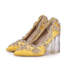 Rhinestone Wedding Shoes, Wedding Shoes Bride, Pump Shoes, Pumps, Court Shoes, Shoes Heels, Champagne Shoes, Cinderella Shoes, Crystal Shoes