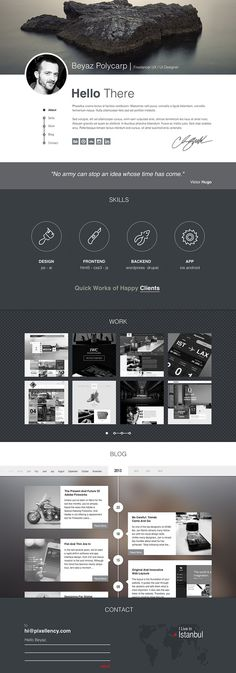 Polifoli - Free Portfolio Website Template /* Hi Friends, want to see more pins like this? Make sure to follow our board @moirestudiosjkt #webdesign */