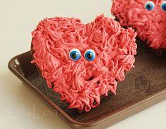 Fuzzy Heart Valentine Cookies