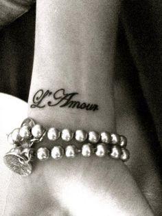 My first tattoo... L'Amour <3