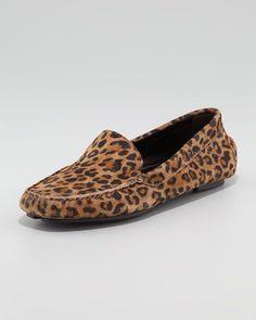 Manolo Blahnik - Mocc Leopard-Print Suede Driver