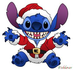 Santa Stitch by =Fishlover on deviantART