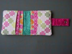 Layer Cake wallet - great Christmas gift idea since one layer cake can make about 8 wallets.