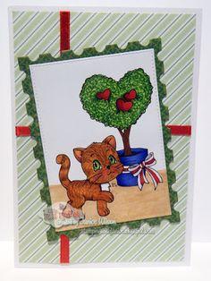 LMMS Friends Feline and Valentine Topiary #lmms, #littlemissmuffetstamps, #digitalstamps