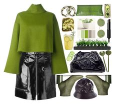 """""""#greenlovers"""" by katymill ❤ liked on Polyvore featuring Isabel Marant, Bally, Maison Margiela, Oliver Peoples, VBH, Givenchy, Chanel, Vintage, Maison Michel and Casetify"""