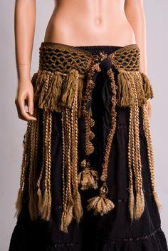 Earth tone Tribal Belly dance Costume. $325.00, via Etsy.