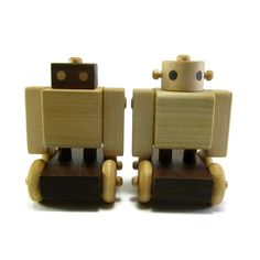 Wood Robot Wood Toy by growwiththegrain on Etsy