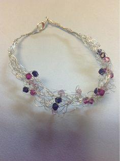 Undeniable Glitter: Crocheted Wire Crystal Bracelet