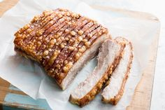 This method of braising the pork in milk and then roasting brings you the best of both worlds: moist, juicy meat and crispy crackling. Pork Belly Roast, Braised Pork Belly, Milk Recipes, Cooking Recipes, Primal Recipes, Light Recipes, Masterchef Recipes, Pork Belly Recipes, Best Pork Belly Recipe