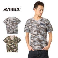 AVIREX アビレックス 6153347 FATIGUE VネックTシャツ