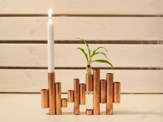 DIY Anleitung: Kupfer-Kerzenständer selber machen // diy tutorial: copper chandelier via DaWanda.com