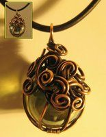Copper wire wrapped marble