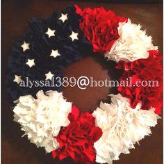 material wreaths | Patriotic Fabric Wreath | WREATHS!!