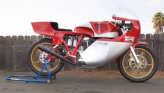 this is one of the fabled Ducati NCR F1 bikes which made their name when Mike Hailwood came out of retirement at 37 years of age to ride one and won at the Isle of Man in record time. This bike is a square case 1979 model and carries an estimate of $85,000 to $100,000. It's a genuine very low production run racing machine - probably one of 25 or thereabouts. If such a bike can be obtained for under $100,000, it must surely be about to enter a sweet spot in appreciation.