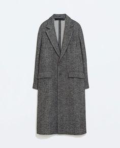 Image 8 of STUDIO HERRINGBONE COAT from Zara