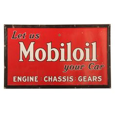 1stdibs - Porcelain Mobiloil sign explore items from 1,700  global dealers at 1stdibs.com
