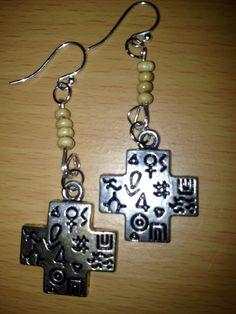 Hieroglyphic Earrings by LitteredNation on Etsy, $18.00