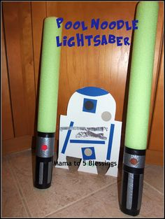 Mama to 5 Blessings - Our Homeschool Blog: STAR WARS POOL NOODLE LIGHTSABER (BOYS WILL LOVE)