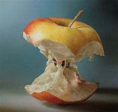 Hyperrealistic painting by Dutch artist Tjalf Sparnaay Food Painting, Painting & Drawing, Apple Painting, Tjalf Sparnaay, Hyper Realistic Paintings, Still Life Art, Dutch Artists, Realism Art, Art Graphique