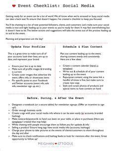 Event Planning Templatedoc HttpbitlyaQIZE MTC - Social media event plan template