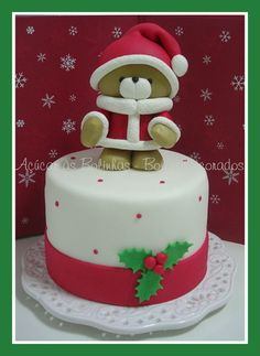 Forever Friends Christmas Bear cake