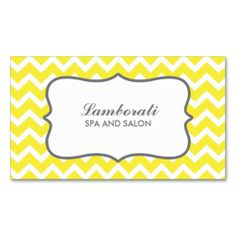 Yellow Chevron Zig Zag Pattern Fashion Designer Business Cards. Make your own business card with this great design. All you need is to add your info to this template. Click the image to try it out!