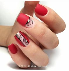 Nail art Christmas - the festive spirit on the nails. Over 70 creative ideas and tutorials - My Nails Square Nail Designs, Ombre Nail Designs, Short Nail Designs, Fall Nail Designs, Short Square Nails, Short Nails, Nail Polish, Minimalist Nails, Nail Decorations