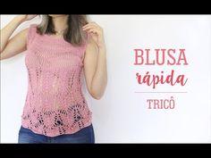 Blusa em tricô passo a passo por Lisandra Santana #aula 2 - YouTube