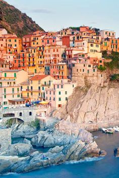 All five towns that make up the Cinque Terre on the Italian Riviera are beautiful, but Manarola is the most picturesque.