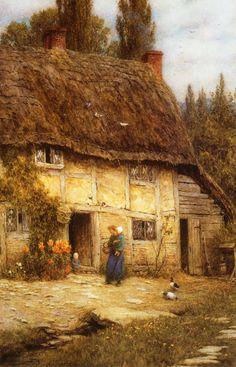 Surrey Farmhouse (Helen Allingham - No dates listed)