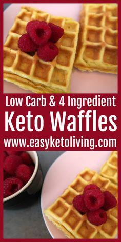 Keto Desserts, Keto Snacks, Low Carb Granola, Easy Waffle Recipe, Waffle Recipes, Low Calorie Waffle Recipe, Pancake Recipes, Crepe Recipes, Coconut Recipes