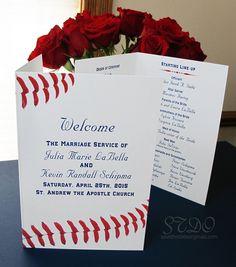 Save the Date Originals - Baseball wedding themed program #sports