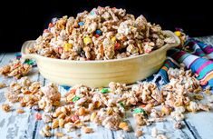 White Trash #white trash #justapinchrecipes Cereal Recipes, Candy Recipes, Snacks Recipes, Lemon Raspberry Muffins, New Dessert Recipe, Dessert Recipes, Fried Chicken Strips, Chocolate Almond Bark, Fries In The Oven
