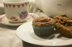 Walnut Butter and Date Muffins from @kathyherbig