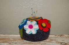 Felted Flower Pincusion | Flickr - Photo Sharing!