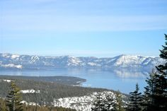 Lake Tahoe::Just over Rose Mountain from Reno, Nevada.