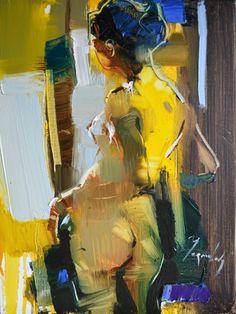 "Saatchi Art Artist Iryna Yermolova; Painting, ""Shall I wear this skirt?"" #art"